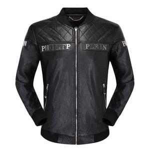 2020 invierno de la chaqueta de cuero negro de alta calidad caliente gruesa chaqueta de cuero de moda chaqueta de los hombres la ropa de los hombres casuales