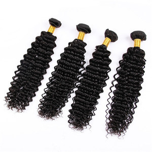 DHgate Brazilian Human Hair Bundles Kinky Curly Deep Wave Loose Wave 3 4 5Bundles On Sale Natural Color 100% Human Hair Fast Express Ship