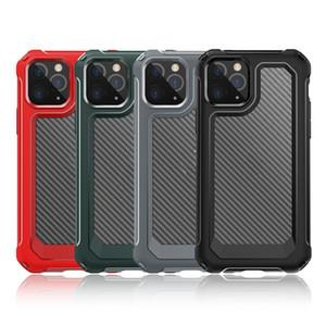 L'arrivée de nouveaux cas en fibre de carbone pour iPhone antichocs XS 11 Pro Max XR 6 7 8 Plus Cristal Transparent Téléphone Portable Sacs