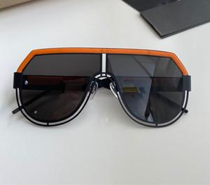 2020 nouveaux mode de mens chauds grosses lunettes de soleil ovales revêtement de couleur structure métallique de lentille grise et brun doré cadre UV400 lentille de qualité supérieure