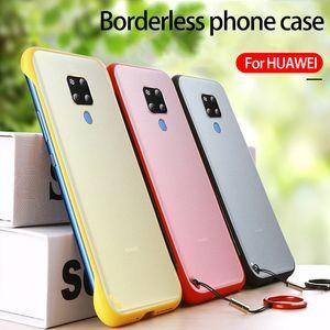 Huawei p30 pro telefon durumda Çerçevesiz cep telefonu kılıfı mat şeffaf damla koruma kapağı Gönder eşleştirme halkası için