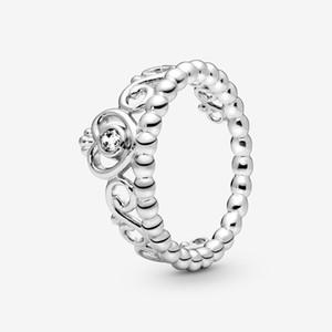 Anillo de la venda de la nueva marca de alta polaco de plata de ley 925 anillo de la princesa de la tiara de boda para las mujeres Anillos de moda de joyería y accesorios