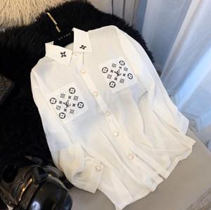 2020 패션 느슨한 여신 셔츠, 쉬폰 셔츠, 자외선 차단 x6x1clothing, 여성 탑, 블라우스, 무료 배송 F6을 긴 소매