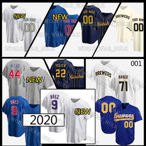 9 Javier Baez Formalar 22 Christian Yelich Cubs 44 Anthony Rizzo Ryne Sandberg 2020 Özel Brewers Brandon Woodruff Josh Hader Trevor Hikayesi