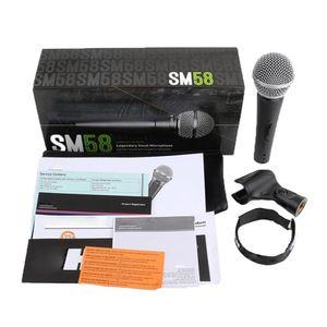 SM58S Динамический вокальный микрофон с включенным и выключенным Переключатель вокального Проводные Караоке Handheld Mic высокого качества этапа и домашних развлечений
