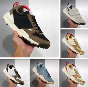 Novas Lançado Tom Sachs Craft Mars Quintal TS NASA 2,0 Shoes AA2261-100 Natural Vermelho esportivo-de bordo homens mulheres Unisex causais sapatos tamanho 36-45