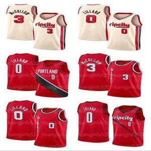 PortlandErkekler Trail Damian 0 Lillard CJ 3 McCollum Jersey Blazersjersey Jason 55 Williams Basketbol Formalar erkekler