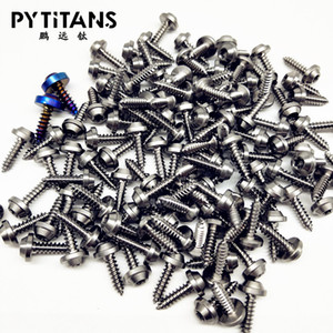 Factory Wholesale Price 10PCS Self Tapping Screws M4 X 15 mm GR5 Titanium Flange Self Tapping Screw Button Head Motorcycle