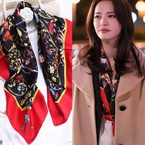 Du Très bon Su Yao Chen Mingyu 90 satin uni Grande Place Foulard en soie Fashion