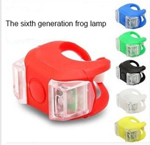 The sixth generation frog lamp mountain bike frog lamp front lamp tail light warning decoration bicycle riding equipment