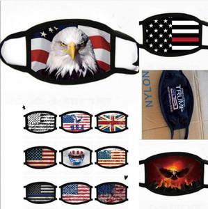 Trump Gesichtsmasken US-amerikanische Wahlen Flaggen Supplies Staubdicht-Druck-Baumwoll Maske Männer und Frauen-amerikanische Flagge Partei-freie Verschiffen-Maske