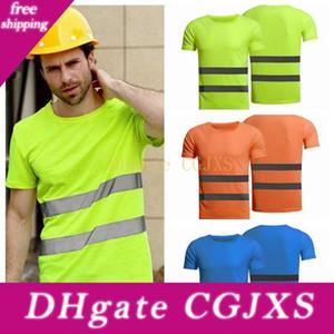 İşçi Yüksek Görüş Emniyet Giyim Yaz Nefes Erkek Kadın Çalışma T -Shirt Dış Mekan Binme Yansıtıcı T -Shirt Zza1246 -1 20pcs