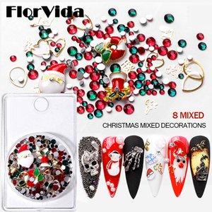 Nail Art Mixed Alloy Christmas Series Snowflake Santa Metal Claus Skull Studs Christmas Halloween Ornaments Nail Art Decorations