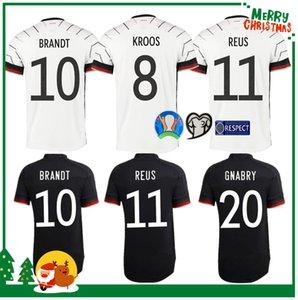 2020 لكرة القدم جيرسي 2021 الرئيسية قمصان لكرة القدم بعيدا الزي ألمانيا الرجال الكبار + الأطفال عدة