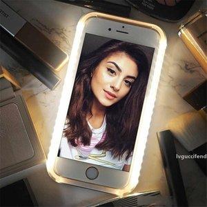 Glow Light Phone Case pour iPhone Cas photo Fill Light Artefact pour l'iPhone 7 plus selfie Mobile Shell pour iPhone 6 cas de cas