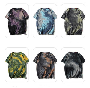 Clothing Mens Designer T-Shirts Print Tie-Dye Short Sleeve Mens Clothing Summer Fashion Loose Casual Pullover Mens