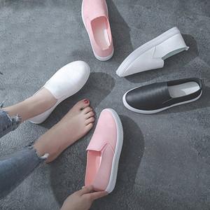 TINO KINO primavera Mujeres Resbalón ocasional en holgazanes para mujer zapatos planos Moda PU cuero femenino de la plataforma Nuevo color zapatos de las señoras oFDf #