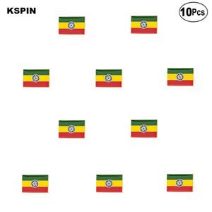 Ethiopia Flag Brooches Lapel Pin Flag badge Brooch Pins Badges 10Pcs a Lot