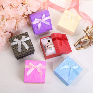 Hot Gifts Boxes Ribbon Paper Jewelry Watch Bracelet Package Box Wedding Anklet Charms Box Organizer Storage 9*8.5*5.5