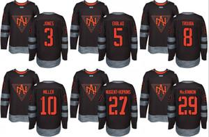 Hommes Amérique du Nord 2016 Coupe du monde de hockey Nathan MacKinnon Ryan Nugent-Hopkins J.T. Miller Jacob Trouba Aaron Ekblad Seth Jones Jersey