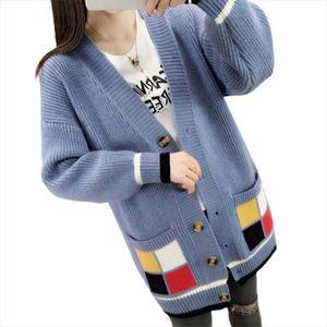 Popular Christmas Sweater Women Loose Coat Long Cardigan Harajuku Manteau Femme Hiver Sueter Mujer Truien Dames Korean Sweaters