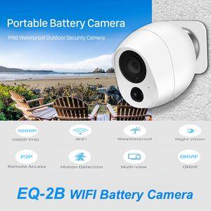 EQ-2B Mini Battery IP Camera Portable Smart 1080P CCTV Camera WiFi Connection PIR Sensor Home Security Night Vision Waterproof Video Talk