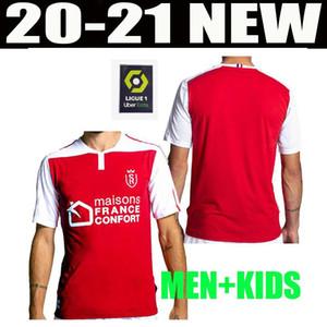 20 21 camisas de futebol Stade Reims casa MAILLOT DE PÉ DISASI CAFARO KONAN DIA FOKET CHAVALERIN Zeneli 2020 camisa 2021 HOMENS DE CRIANÇA KIT futebol