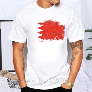 Drapeau du Bahrain T-shirt col rond hommes conception Nostalgie T-shirts pour hommes de marque 100% coton Bahrain T-shirt à manches courtes