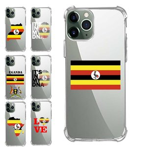 Corner Extra Protection Transparent TPU Phone Cases For Samsung A50 A70 M20 M30 NOTE S 9 10 11 20 Plus Pro Uganda Flag Heart