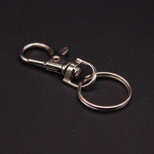 1pc Hot Fashion 38 * 17mm alliage Porte-clé homard fermoir anneau Cercle saut Crochet avec accessoires clés L2G2