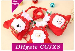 Forniture di Buon Natale decorazioni per la casa Accessori regalo di Natale Candy Bag Babbo Natale Gift Bag Casa decorazione della festa di Natale Xx