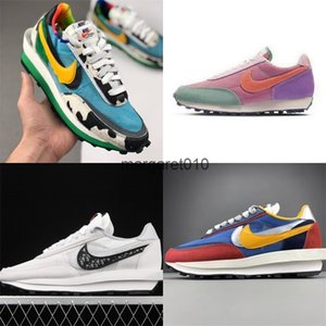 Hot Men Women nike Sacai X LVD WAFFLE joint deconstruction show CN8899-006 Daybreak oblique Blazer DUNKS Varsity Ice cream cow catwalk shoes