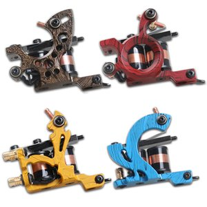4 pièces Machines à tatouer professionnelle Dragonhawk fine doublure Shading Tattoo Gun Lining Coloring 10 Wraps Tattoo Machines