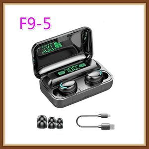 F9 -5 Tws 5 .0 Bluetooth Earphones Wireless Earphone 8d Bass Stereo In -Ear Earbuds Handsfree Headset With Microphone Charging Case