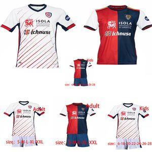 Cagliari Calcio Fußball-Trikot 2020 2021 CERRI João Pedro Nainggolan Nandez PAVOLETTI Jahrestag HOT Männer + Kinder Fußballhemd