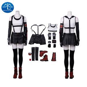 Manluyunxiao Cosplay Tifa Lockhart Kostüm Anime Oyun FF7 Yetişkin Kadınlar Final Fantasy VII Cosplay Halloween CX200817