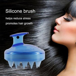 4 couleurs de massage peigne en silicone Scalp Shampooing Massage Brosse large dents peigne pour laver les cheveux Douche Baignoire Brosse souple confortable