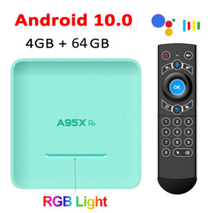 Google Voice Remote A95X R5 Android Smart TV Box 4GB 32GB 64GB RK3318 4K Media Player Set Top Box 2.4G 5G Wifi Bluetooth Android 10.0 TVBox