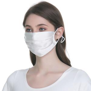 2020 Новая Шелковые дышащей Солнцезащитного Face Mask Рот Лето Thin моющиеся Противопыльный РМ2,5 пыл прохладное лето Женщина партия Маска Boom2015