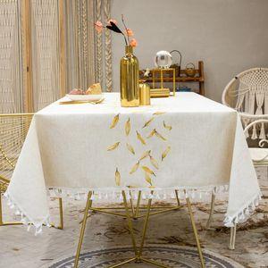 ropa de moda caliente color de la venta del bordado jacquard larga franja mantel navidad paño de la tabla final mantel de algodón tapete de mesa