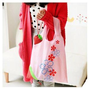 Morango dobrável saco reutilizável ecologicamente correta Bolsas de Compras Bolsas Bolsas Morango dobrável Sacos Folding Tote