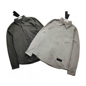 2020 París demostración del principio de moda mostrar a los hombres de la blusa de las blusas de seda importada clásica sección del logo cómodo suave camisetas de retro-impresión hermosa