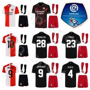 Kits de camiseta para niños Feyenoord Fútbol Juvenil Berghuis Jersey calcetines Conjunto Toornstra SINISTERRA JORGENSEN KOKCU Narsingh SENESI PERSIE FER Fútbol