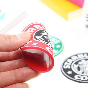 PVC porta-copos Copa do termo Titular Almofada Starbucks café-mar empregada doméstica Coasters Cup MatNon-derrapante caneca do copo de água de cerâmica montanha-leite navio livre