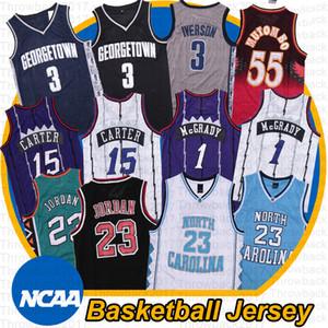 NCAA VINCE 15 Carter Carolina del Norte Tar Heels 23 Michael Tracy 1 McGrady Camisetas de baloncesto