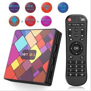 Hk1 Cool RK3318 Quad Core Android 9.0 TV Box 4G 64G 4K Set Top Box 2.4G&5G WiFI Media Player