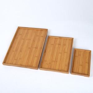 Dikdörtgen Doğal Bambu sunmaktadır Tepsi Çay Çatal Tepsileri Depolama Palet Meyve Tabağı Dekorasyon Gıda Ahşap Dikdörtgen 6 Boyut CY BH2304