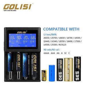 Cgjxs Golisi I4 Smart Charger 18650 26650 20700 batteria Display Lcd Usb schermo 4 scanalature di carico 2a veloce intelligente del caricatore T191019