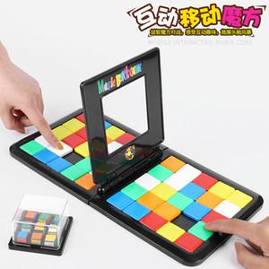 Puzzle game giocattolo di colore mobili cubo doppia battaglia bambini di puzzle interessante divertente puzzle giocattolo interattivo il cubo di Rubik di Rubik