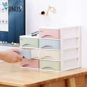 Bnbs Macaron pequeño color gaveta de almacenamiento joyero 3/4 Capas módulo extraíble de organizador de escritorio del envase de las misceláneas de la joyería caja de maquillaje